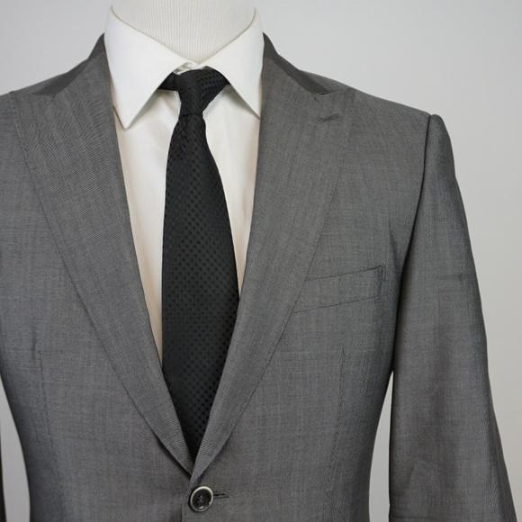 0dc1c0574 Hugo Boss Suits & Blazers | Gray Peak Lapel Sportcoat 38s Wool Silk ...